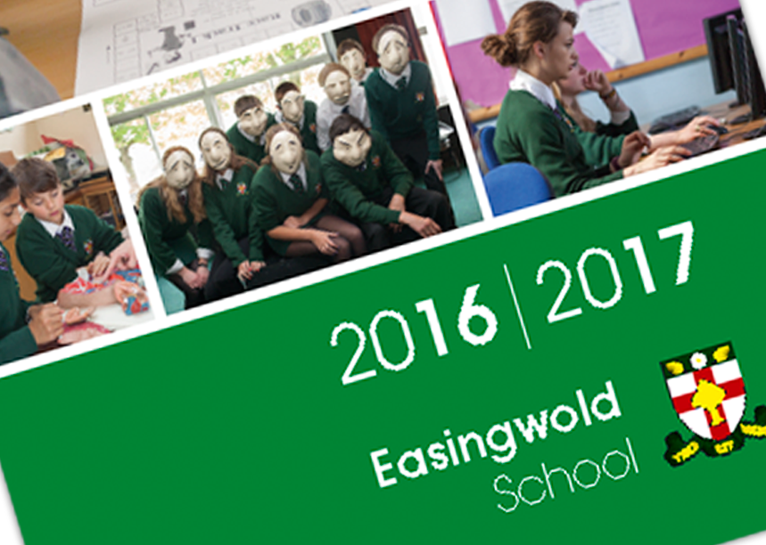 Easingwold School Handbook Design