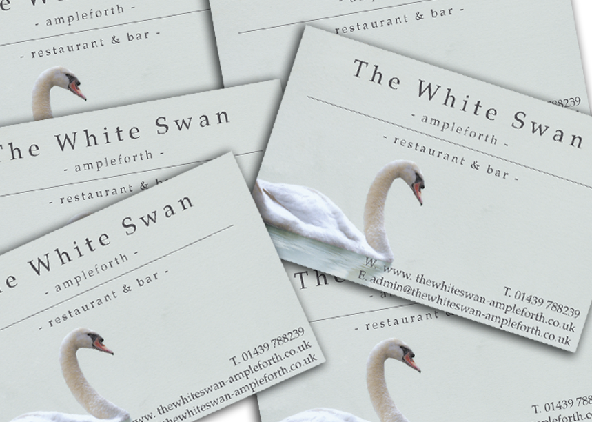 White Swan Ampleforth - Business Card Design